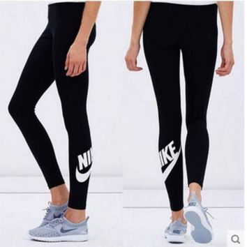 GEYNQ2 Nike Fashion Print Exercise Fitness Gym Yoga Running Sportswear Legging