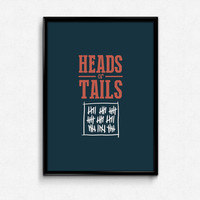 "Bioshock Infinite: R.Lutice - ""Heads or Tails"" quote 17x11 poster - Songird, Bioshock, Elizabeth quote poster"