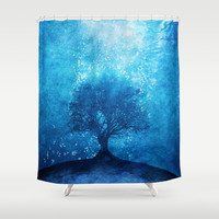 Songs from the sea. Shower Curtain by Viviana Gonzalez | Society6