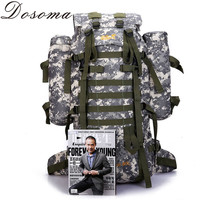 80L CP Camouflage Military Camping Equipment Women Bag Trekking Sport Rucksacks Men Capacity Multifunction Men's Travel Backpack