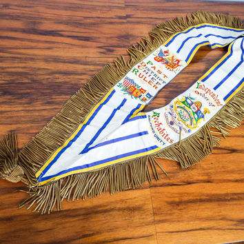 Ceremonial Regalia Sash ~ Chief Ruler ~ Order of Rechabites