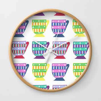 Bright Teacup Wall Clock by JustV