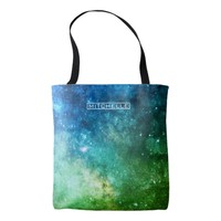 Personalized Green Stardust Tote Bag