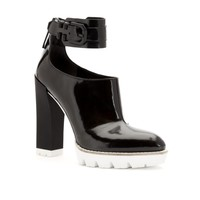 Otto Polished-Leather Lug-Sole Bootie - Heels - Kenneth Cole