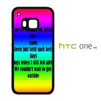 blink song lyric X0935 HTC One M9 Case