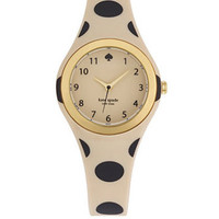 Kate Spade New York Rumsey Polka Dot Printed Rubber Strap Watch
