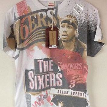Allen Iverson Philadelphia 76ers Mitchell & Ness Breaking Boards Sublimated Tee