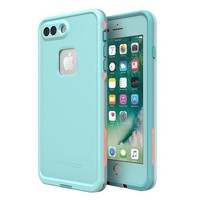 PEAPGQ6 Lifeproof 77-56983 FR¨¥ SERIES Waterproof Case for iPhone 8 Plus & 7 Plus (ONLY) - Retail Packaging - WIPEOUT (BLUE TINT/FUSION CORAL/MANDALAY BAY)
