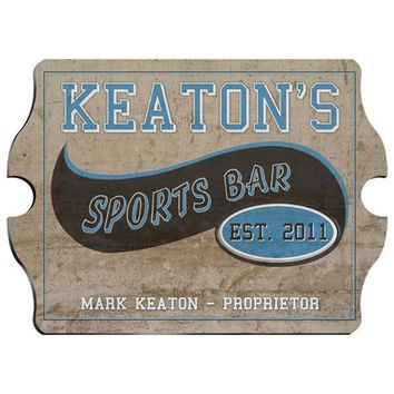 Vintage Series Personalized Sign - Sports Bar