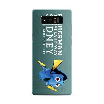 dory finfing nemo quote i remember it Samsung Galaxy Note 8 Case