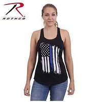 Thin Blue Line Flag Racerback Tank Top