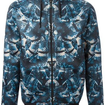 Marcelo Burlon County Of Milan all over snake print hooded jacket