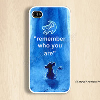 iPhone 5/5s, 5c, 4/4s & Samsung Galaxy S4, S3 cases   Lion King Movie / Simba / Remember Who You Are iPhone 5 case