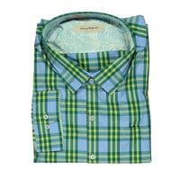 Tommy Bahama Mens Big & Tall Cubanita Knit Plaid Button-Down Shirt