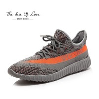 Fashion Online 2017 Newest Men's V2 Sport Shoes Running Shoes Knitted Breathable Leisure Sports Shoes Couple Shoes Yezzy Boost 350 Hombre