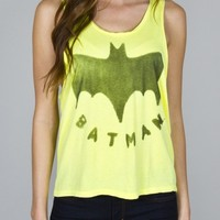 Junk Food Clothing - Batman Logo Cropped Tank - Tops - Womens
