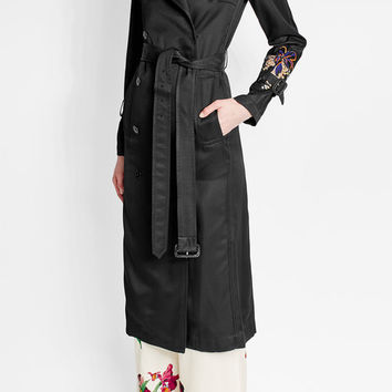 Embroidered Crepe Trench Coat - Victoria Beckham | WOMEN | US STYLEBOP.COM