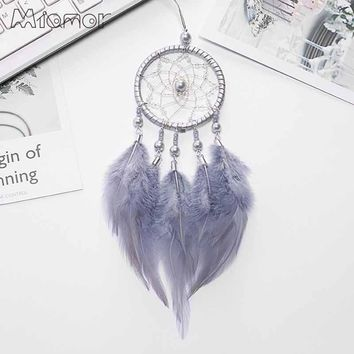 Small Pink & White Dreamcatcher & Wind Chimes Car Pendant & Home Decor & Wall Hanging Dream Catcher Regalo Amor00666
