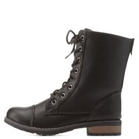 Lace-Up Combat Boots by