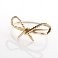 Women's bow ring (gold) | by boe - 80's Purple