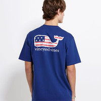 Mens T-Shirts: Flag Whale Graphic T-Shirt