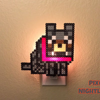 Minecraft Wolf | Mincraft inspired | Nightlight | Wall Decor | Pixel Design | Size X-Large