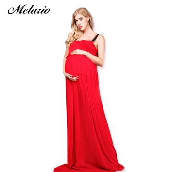 Maternity dress high quality red Sling Dress Pregnancy Dress