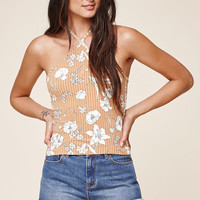 Me To We Woodlands Diamond Neck Halter Tank Top at PacSun.com