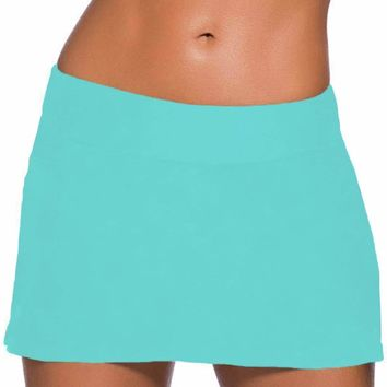 Plus Size Mint Skirted Swim Bikini Bottom