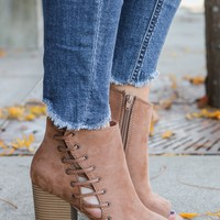 Steal Your Heart Booties - Camel
