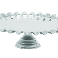 Sleek And Stylish Cake Stand With Exquisite Curved Edge Design