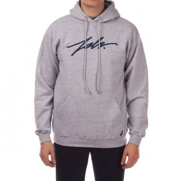 JSLV Signature Pullover Hoodie - Athletic Heather/Navy