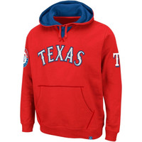 Majestic Texas Rangers Fly Ball Hoodie - Red