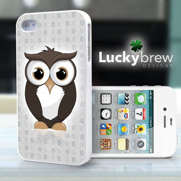 iPhone 4 4s Hard Case - Cute Owl Animal Cartoon - Phone Cover