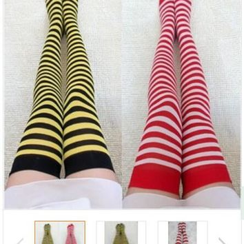 5 pairs cute sweet zebra Stockings Pantyhose jacquard Velvet stockings sub sexy slim hosiery hose Conjoined silk stockings