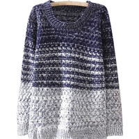 Block Gradient Knit Sweater
