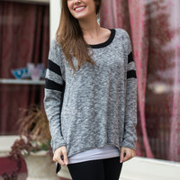 Double Trouble Top, Black/Gray