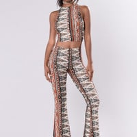 Ella Pants - Ivory/Multi