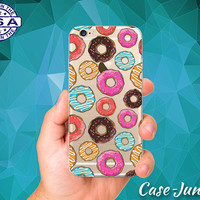 Donut Pattern Doughnuts Icing Cute Tumblr Case iPhone 5 iPhone 5C iPhone 6 iPhone 6s iPhone 6s Plus and iPhone SE iPhone 7 Plus Clear Case