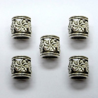 6x(7mm hole) Tibetan Silver DREADLOCK BEADS, DREAD Hair Beads,Dreadlock Accessories,dreadlock bead sets,Dreadlock Jewelry,Hair Accessories,