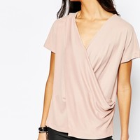 River Island Aysemmetric Drape Front Top at asos.com
