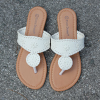 Preppy Sandal - White