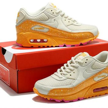 """Nike Air Max 90"" Women Sport Casual Multicolor Galaxy Air Cushion Sneakers Running Shoes"