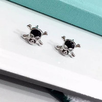 Fashion skull 925 Sterling Silver earrings, a perfect gift