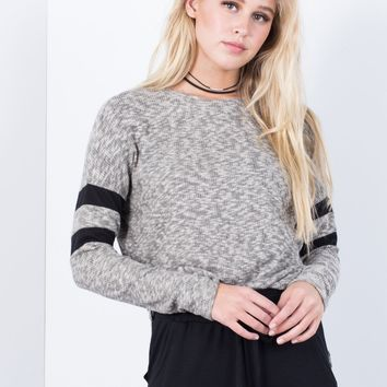 Double Striped Soft Sweater