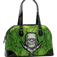 Frankenstein Green Lace Handbag