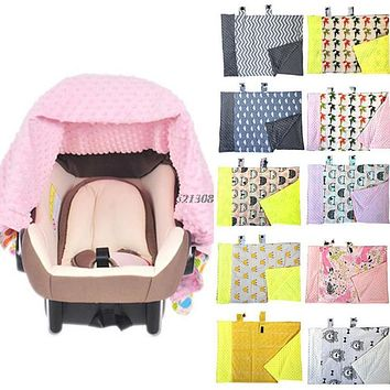 Baby Infant Newborn Cartoon Soft Blanket Nursing Car Seat Canopy Pattern Cover
