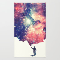 Painting the universe Rug by Badbugs_art