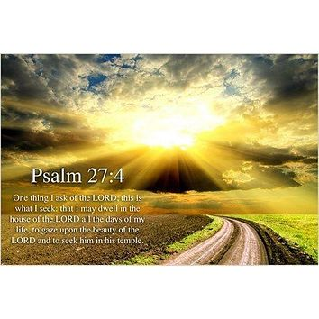 "PSALM 24:7 religious CHRISTIAN POSTER ""lift up your heads, ye gates"" 24X36"