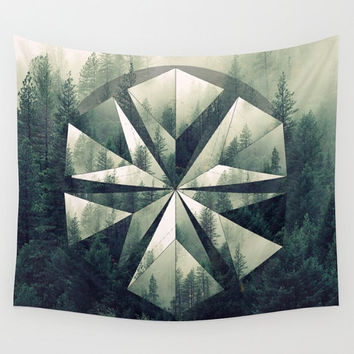 Forest Geometric Circle Mandala Polyscape Wall Tapestry Yoga Meditation Mandala Wall Hanging